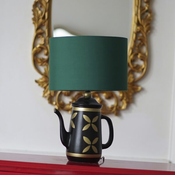 Vintage Teapot Lamp ( Pine Green )