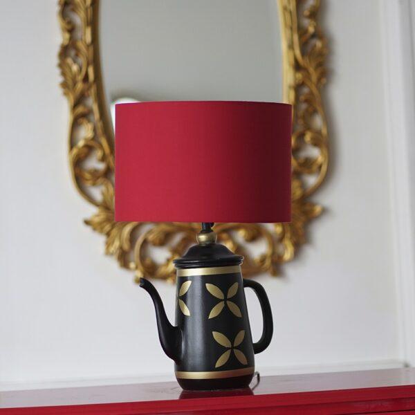 Vintage Teapot Lamp ( Red )