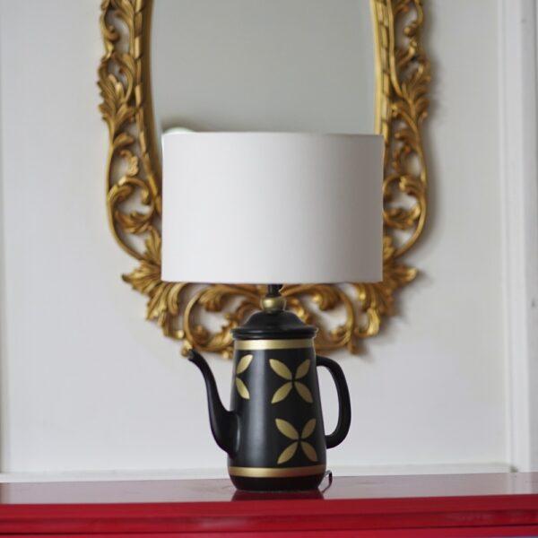 Vintage Teapot Lamp ( White )