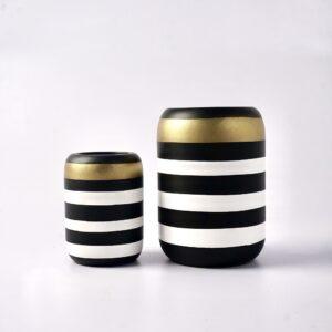 Omaggio Vase (Black-Gold)