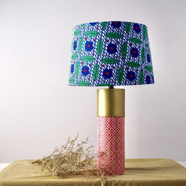 Cylinder Table Lamp (Blue - Green)