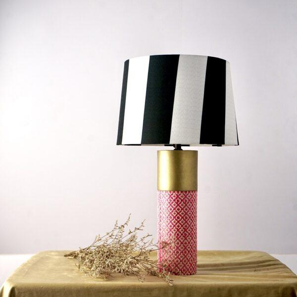 Cylinder Table Lamp (Black - White)