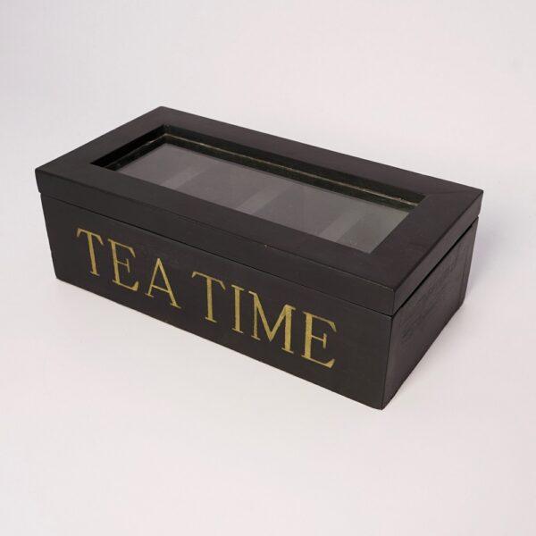Wood Tea Chest (Black)