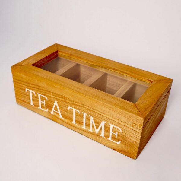 Wood Tea Chest (NATURAL)