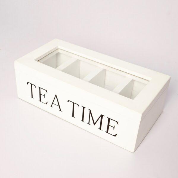 Wood Tea Chest (WHITE)