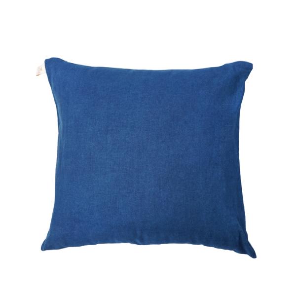 Plain Linen Pillowcase (Blue Denim)