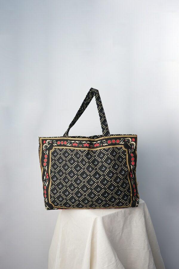 VZ Shopper Bag (Black - Red)