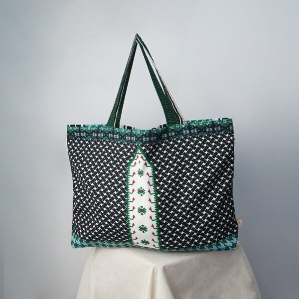 VZ Shopper Bag (Black - Green)
